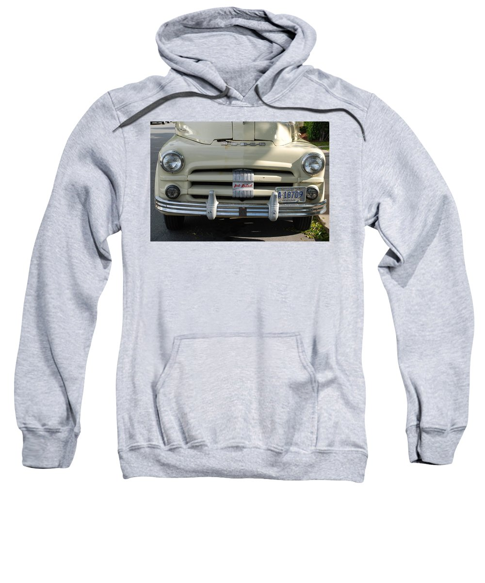 Truck Sweatshirt featuring the photograph Yellow Dodge by Rob Hans