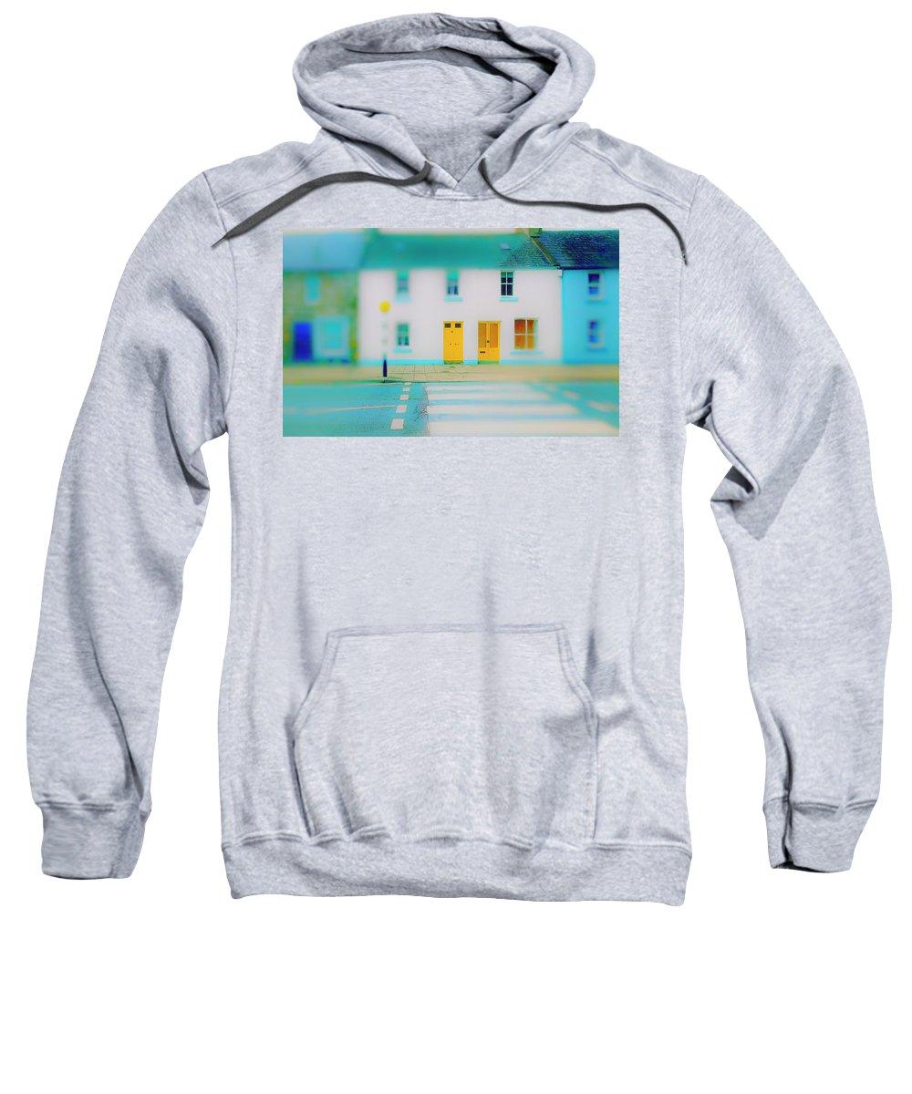 Railroad Sweatshirt featuring the photograph Yellow Doors by Jan W Faul
