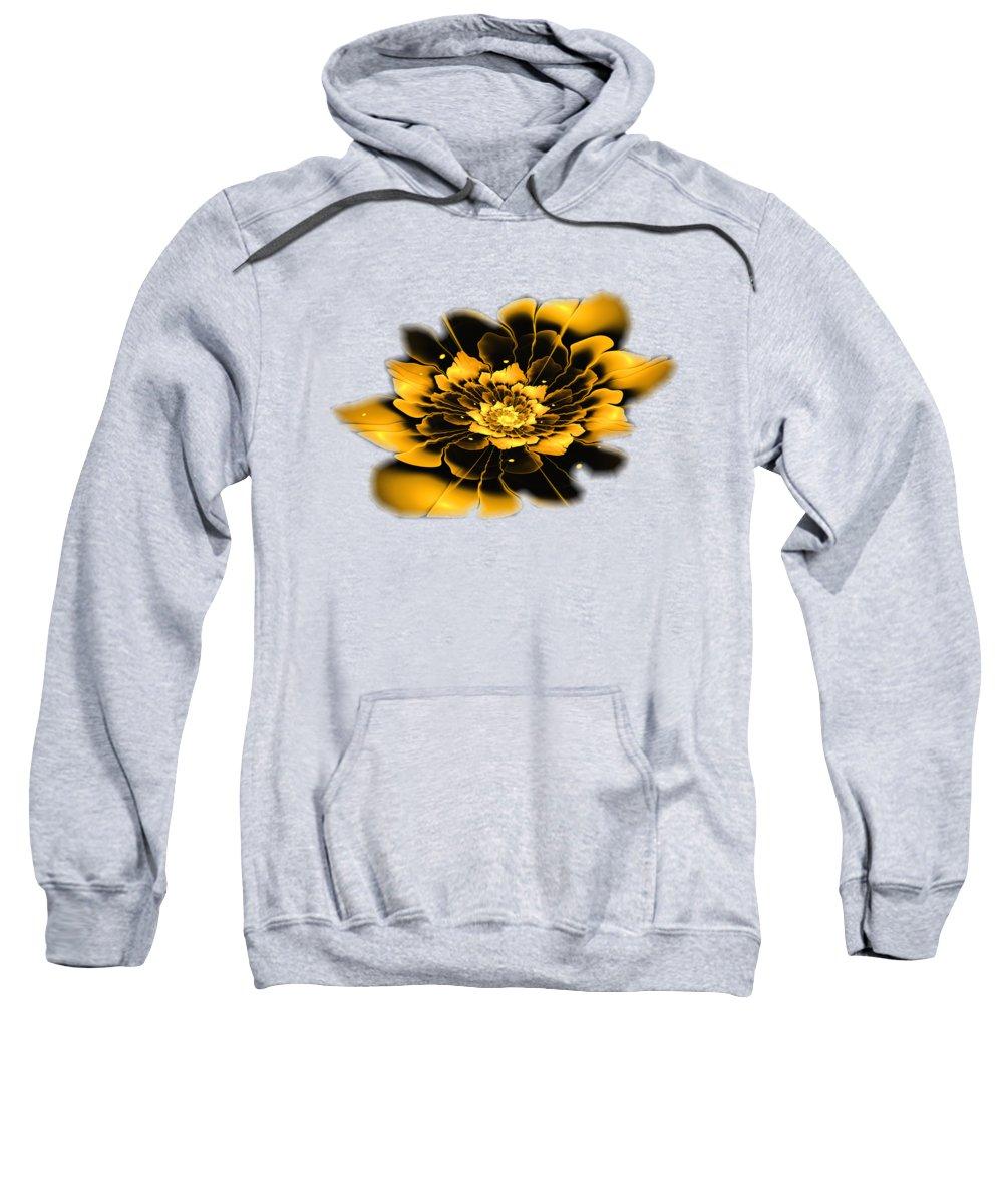 Flower Sweatshirt featuring the digital art Yellow Flower by Anastasiya Malakhova
