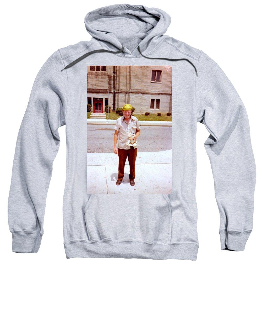 Man Sweatshirt featuring the photograph Yellow Hat by Deborah Crew-Johnson