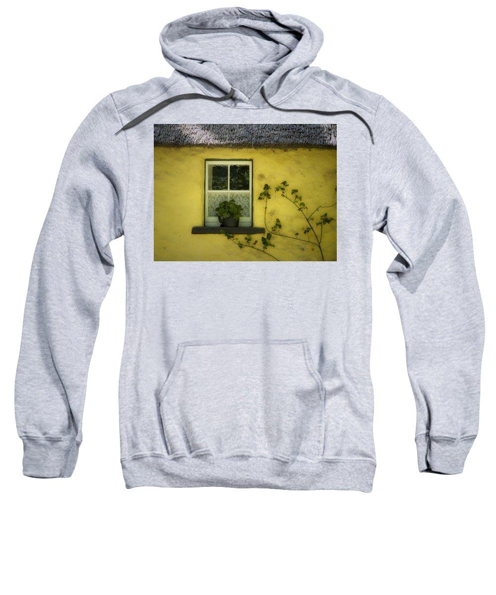 Irish Sweatshirt featuring the photograph Yellow House County Clare Ireland by Teresa Mucha