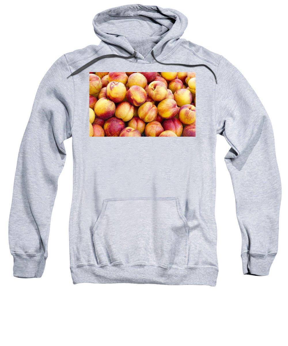 Fruit Sweatshirt featuring the photograph Yellow Nectarines by John Trax