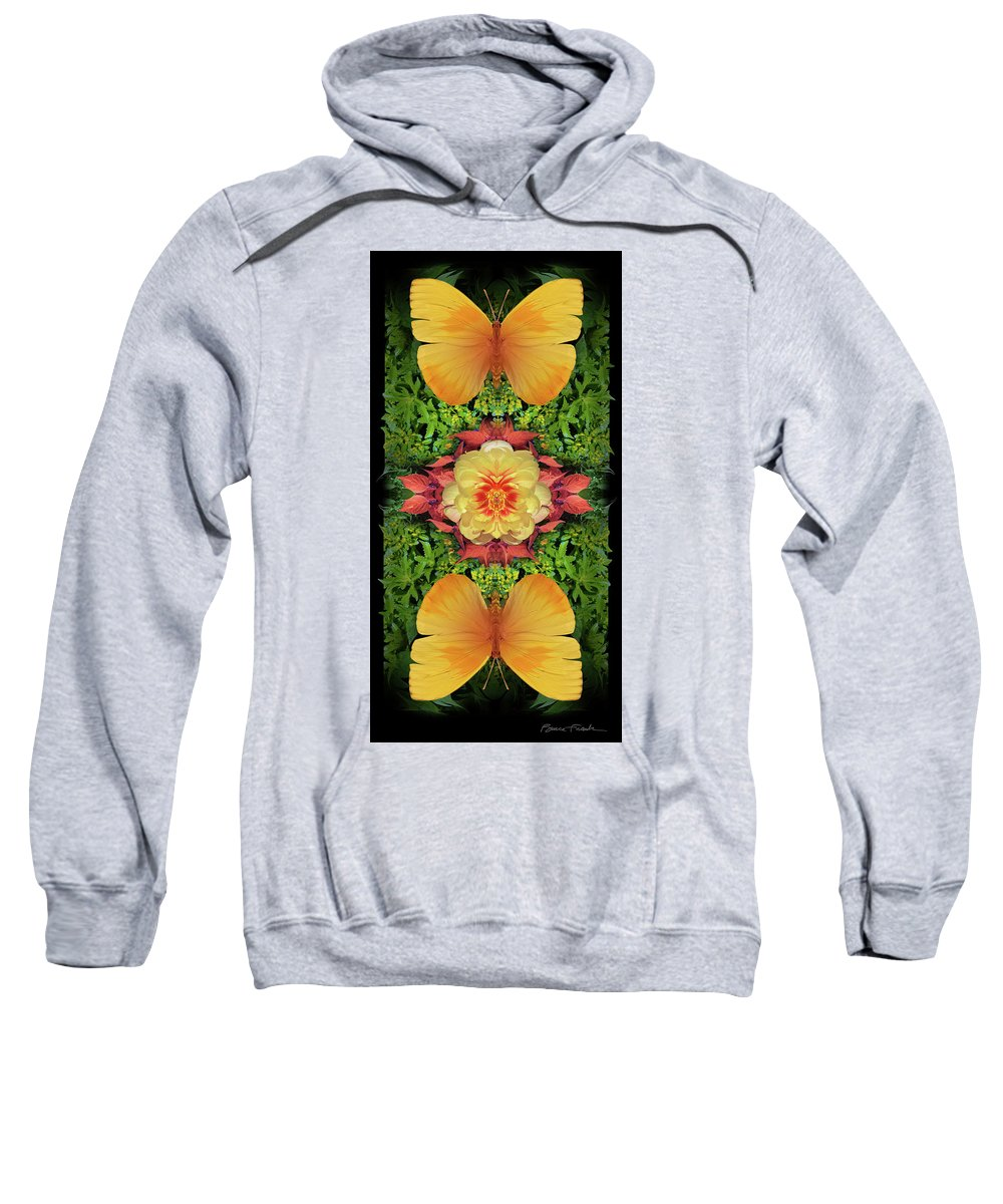 Botanical Sweatshirt featuring the photograph Yellow Peony by Bruce Frank