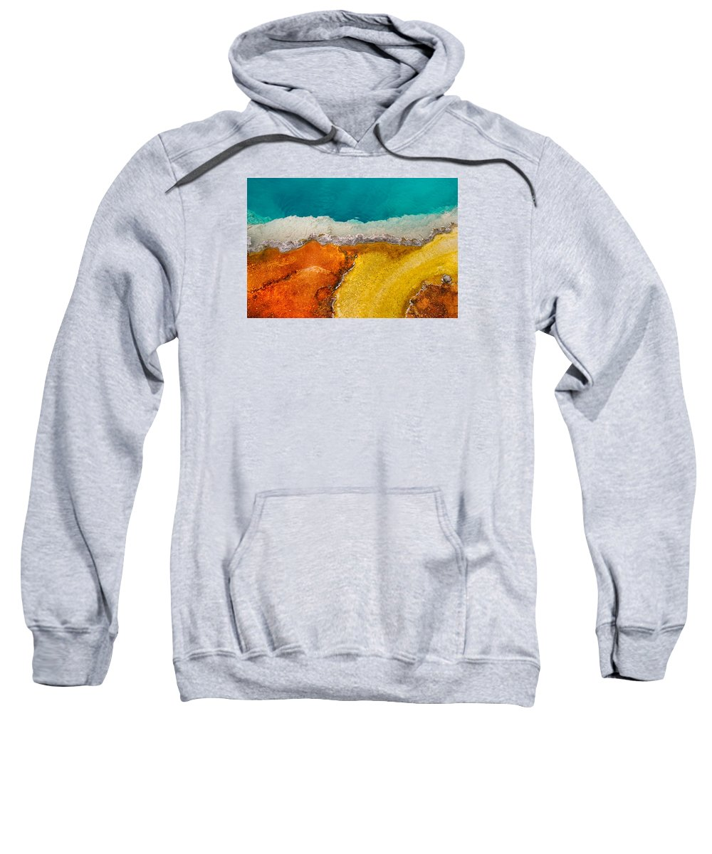 Pool Sweatshirt featuring the photograph Yellowstone Pool by Grant Groberg