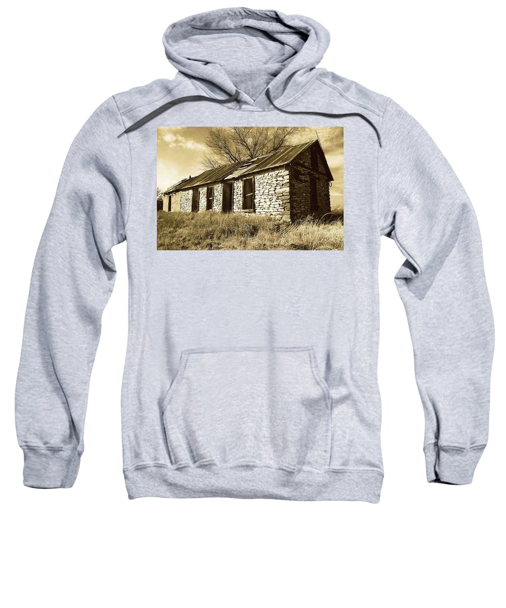 New Mexico Sweatshirt featuring the photograph Yeso New Mexico 1 by Nelson Strong