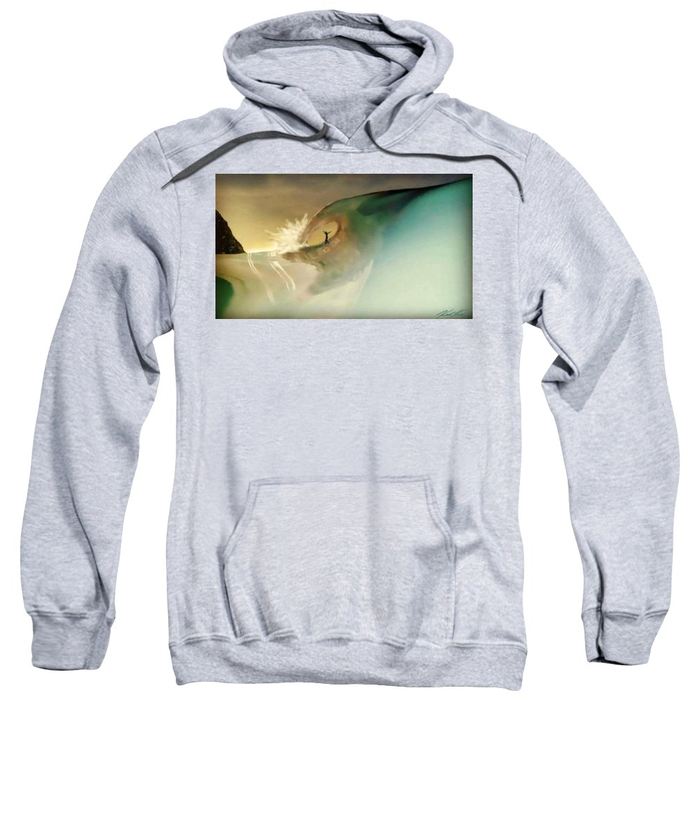 Surf Sweatshirt featuring the digital art Yew Stew by Keith Kos