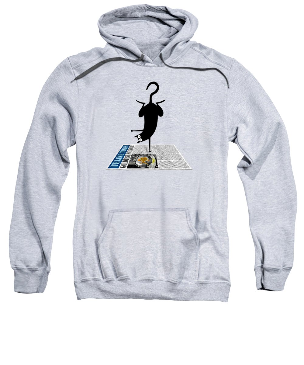 Yoga Sweatshirt featuring the drawing Yoga Mat by Andrew Hitchen