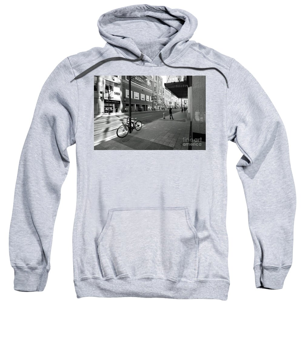 Toronto Sweatshirt featuring the photograph Yonge And Queen In Toronto by Colin Cuthbert
