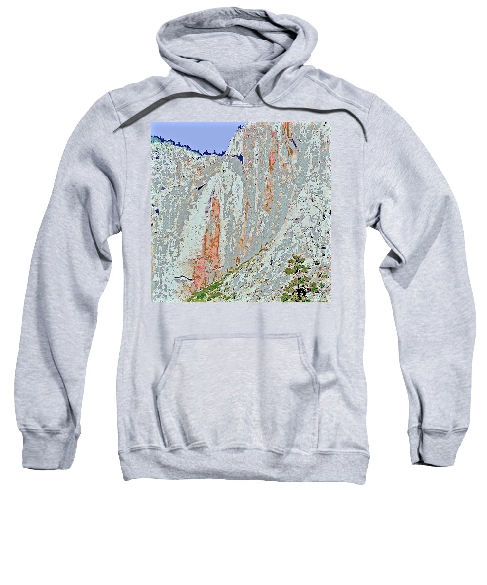 Yosemite Sweatshirt featuring the photograph Yosemite Falls Drought by Scott L Holtslander