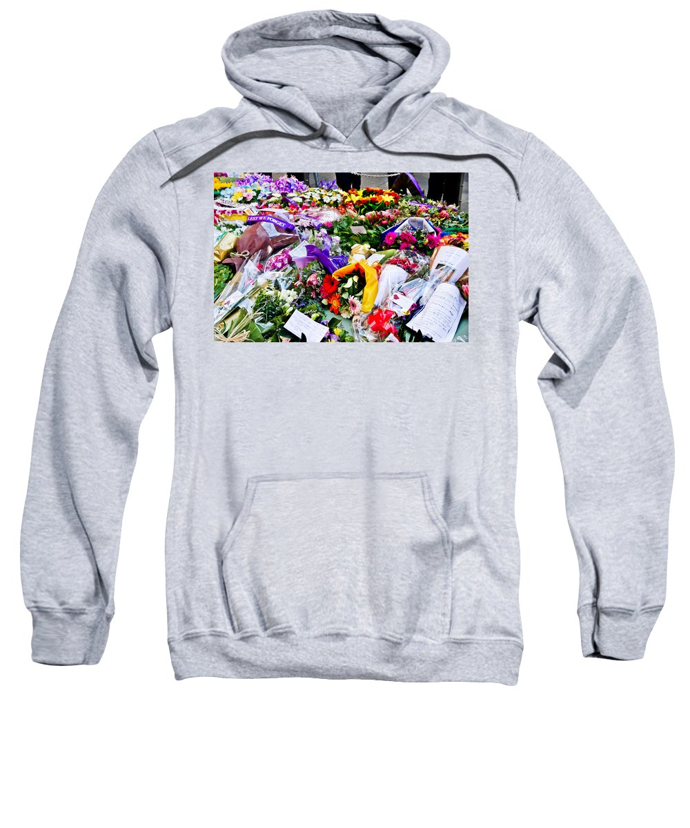 Anzac Day Sweatshirt featuring the photograph You Never Be Forgotten by Miroslava Jurcik