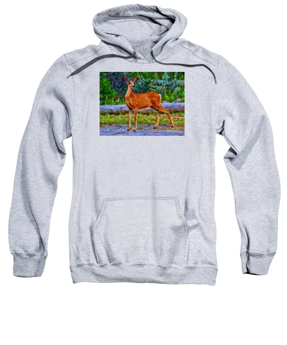 Doe Sweatshirt featuring the photograph Young Doe by Blake Richards
