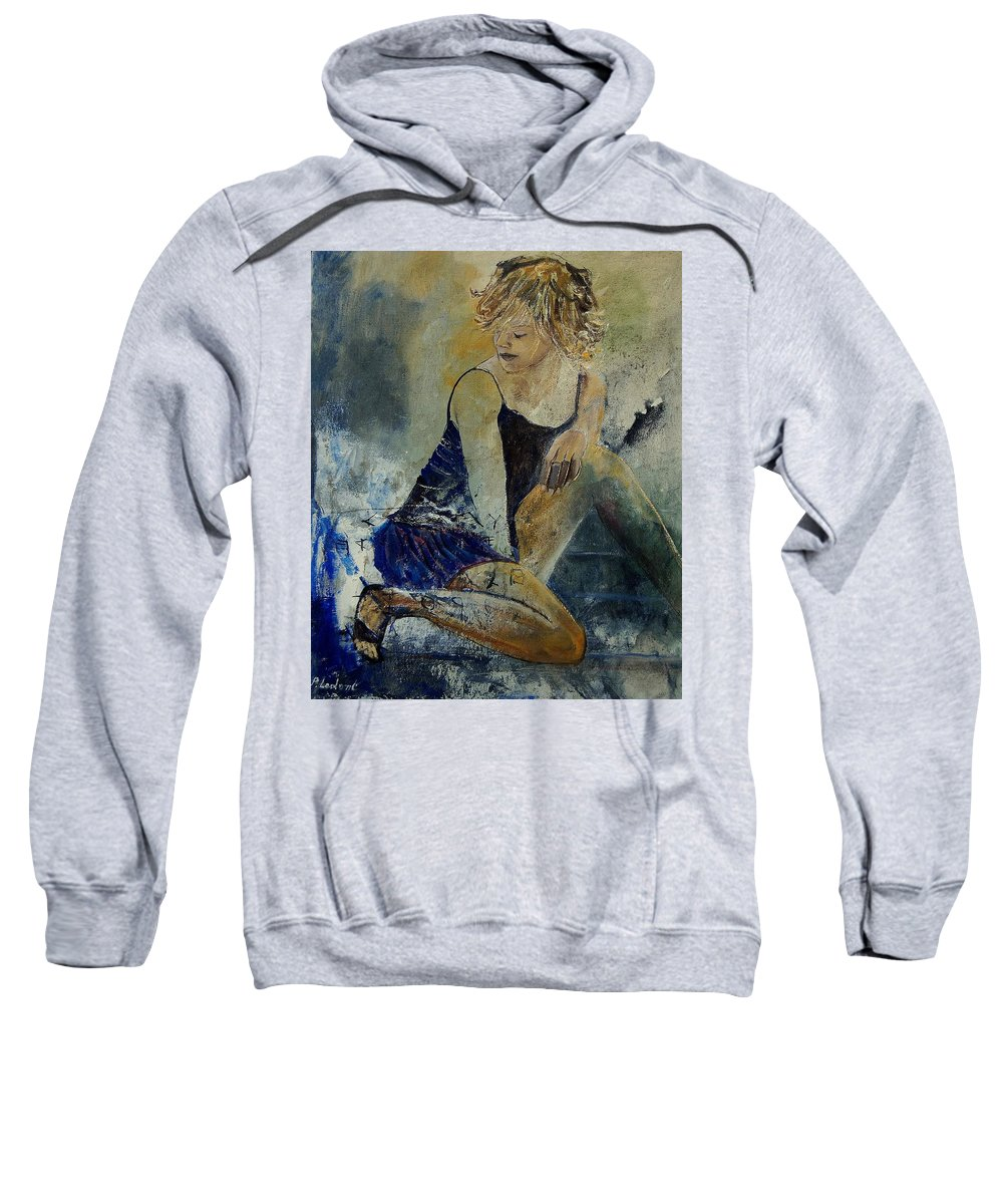 Nude Sweatshirt featuring the painting Young Girl 5689474 by Pol Ledent