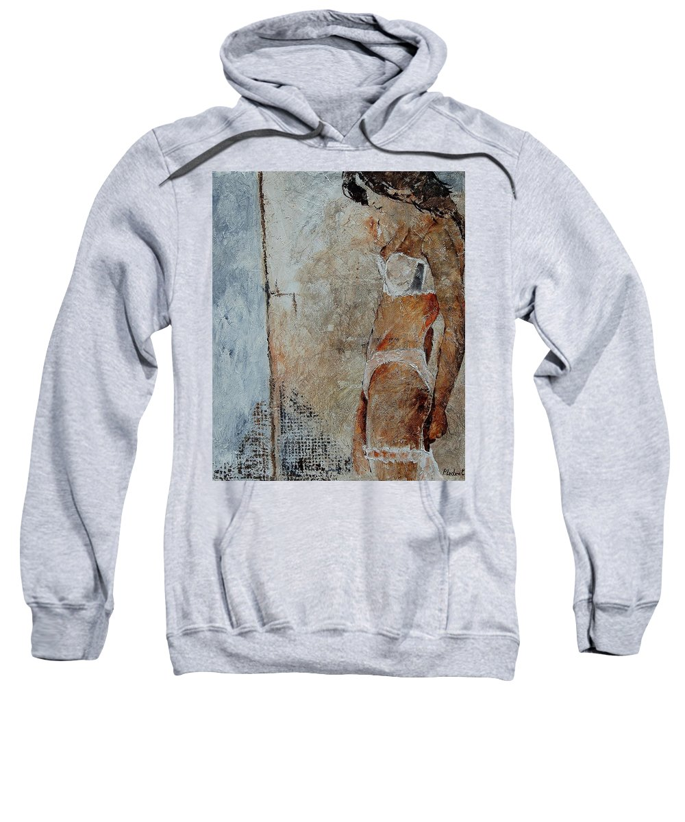 Sweatshirt featuring the painting Young Girl 572563 by Pol Ledent