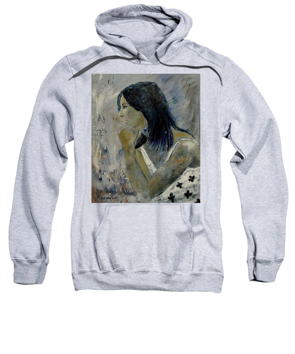 Girl Sweatshirt featuring the painting Young Girl Eg569090 by Pol Ledent