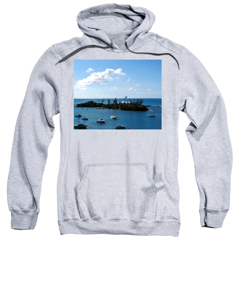 Bermuda Sweatshirt featuring the photograph Your Island In The Sun by Ian MacDonald