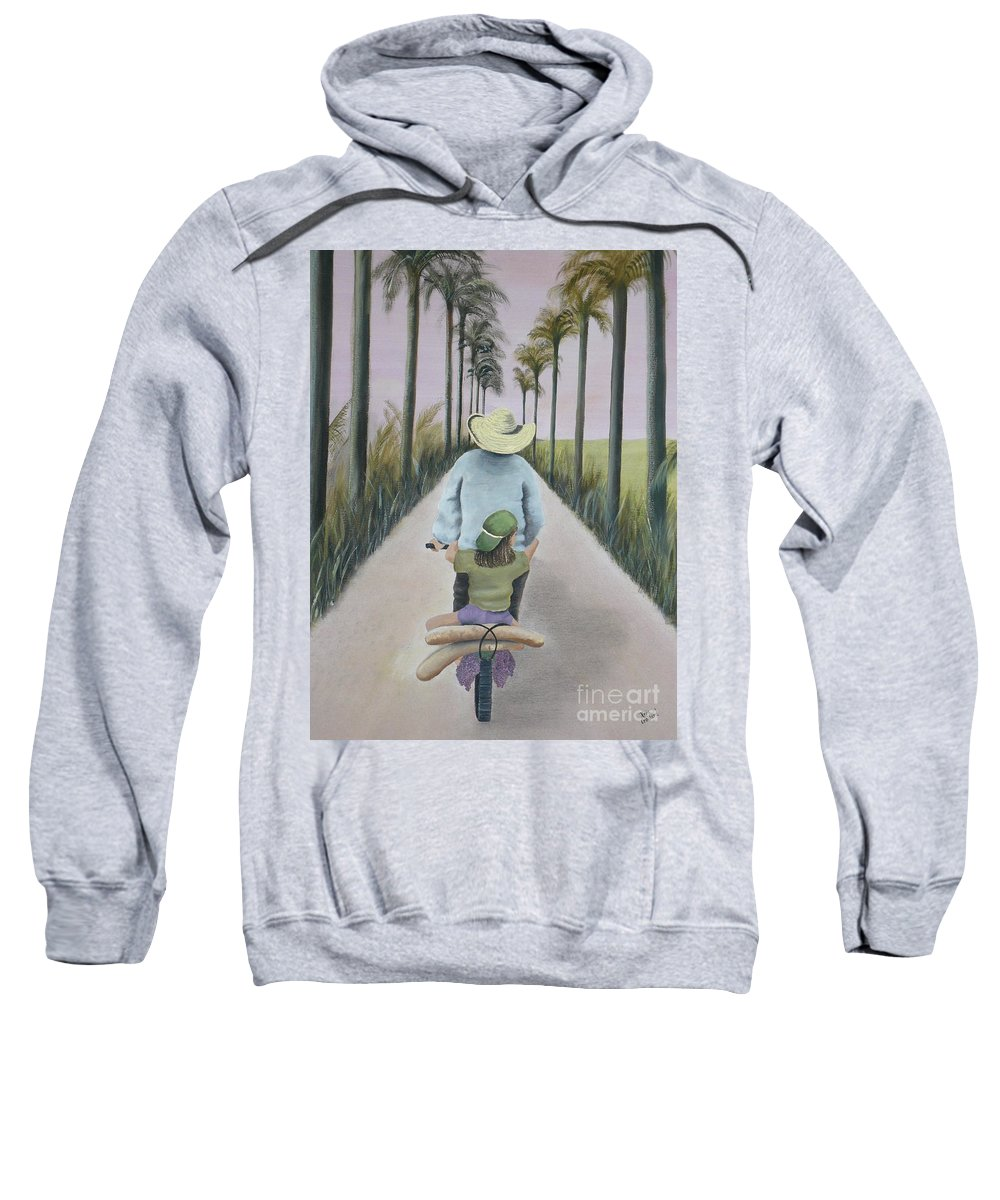 Tropical Sweatshirt featuring the painting You're The Best by Kris Crollard