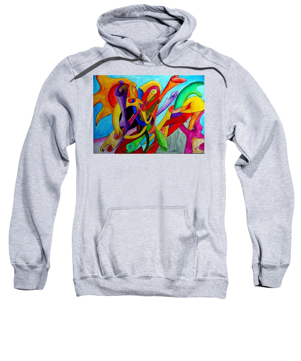Yourname Sweatshirt featuring the painting Yourname by Helmut Rottler