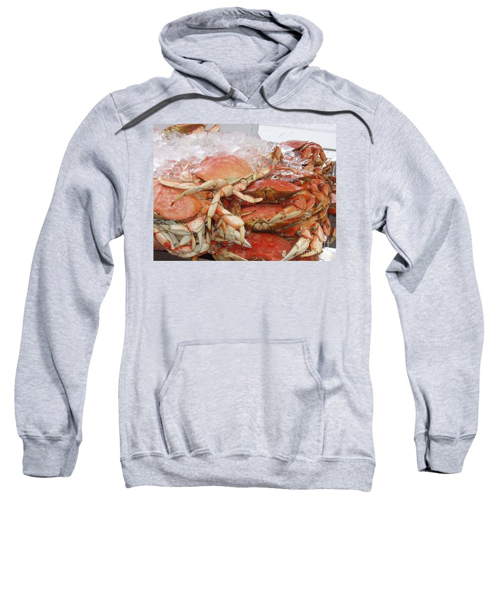 Crabs Sweatshirt featuring the photograph Yummy by Deborah Crew-Johnson