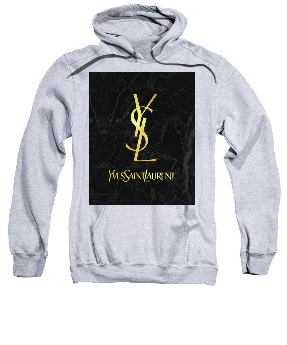 b14f807a Yves Saint Laurent Sweatshirt featuring the digital art Yves Saint Laurent  - Ysl - Black And