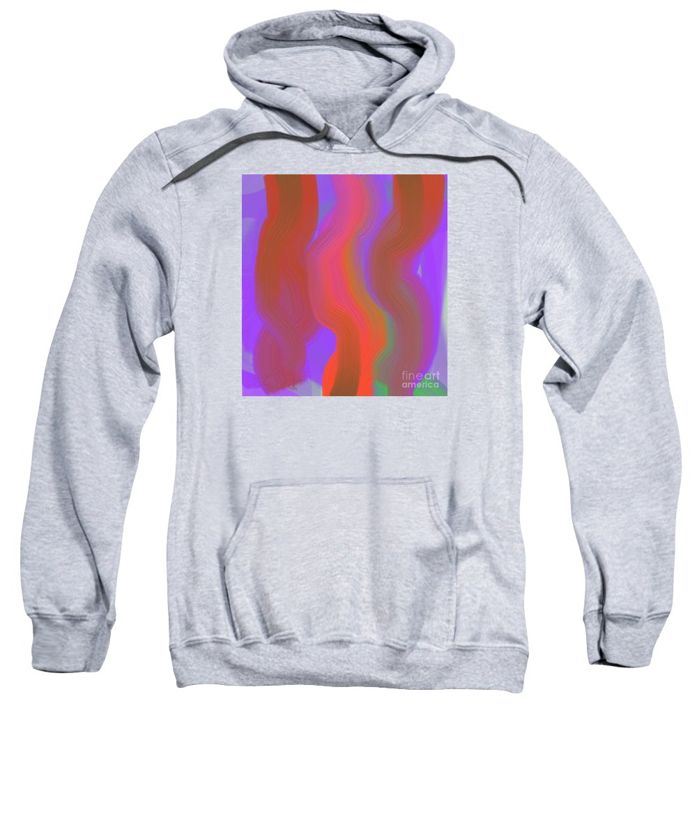 Abstract Sweatshirt featuring the digital art Z920 by Lawrence Nusbaum