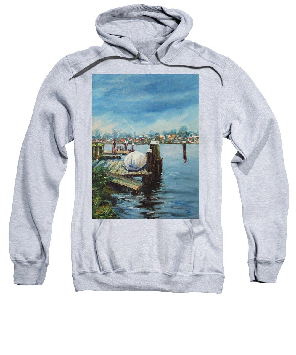 Water Sweatshirt featuring the painting Zaandam by Rick Nederlof