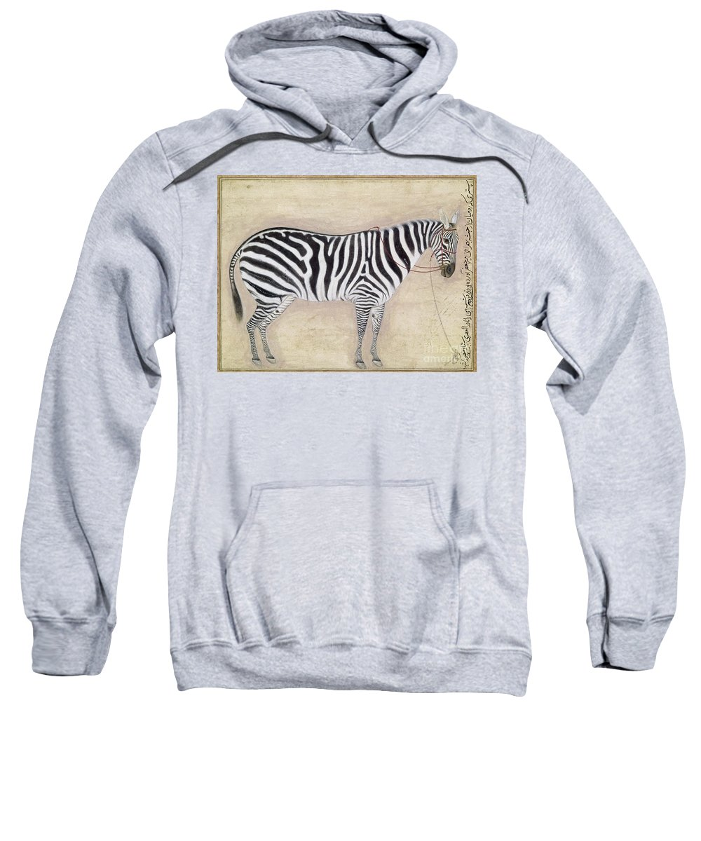 1620 Sweatshirt featuring the photograph Zebra, C1620 by Granger