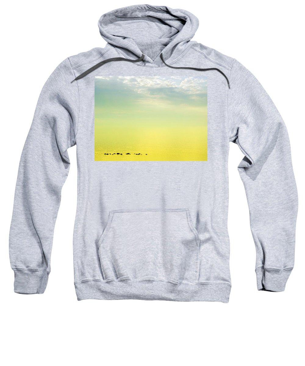 Zen Sweatshirt featuring the photograph Zen Seascape by Silvia Ganora