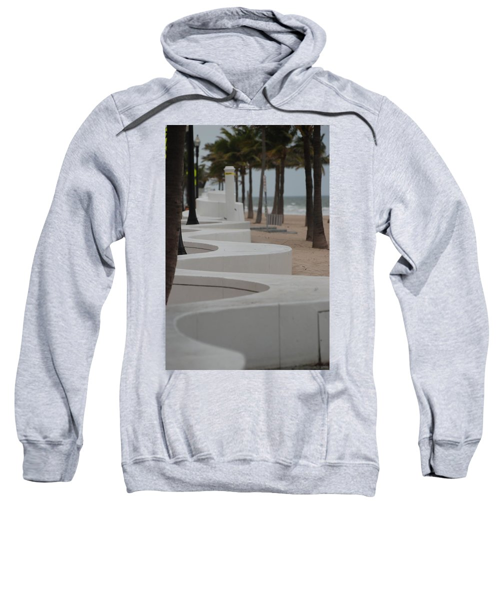 Pop Art Sweatshirt featuring the photograph Zig Zag At The Beach by Rob Hans