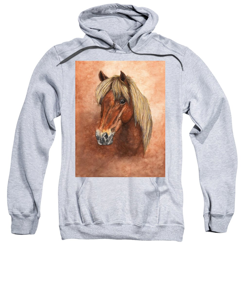 Pony Sweatshirt featuring the painting Ziggy by Kristen Wesch