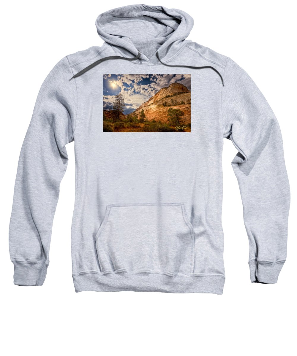 Formation Sweatshirt featuring the photograph Zion Afternoon by Rikk Flohr