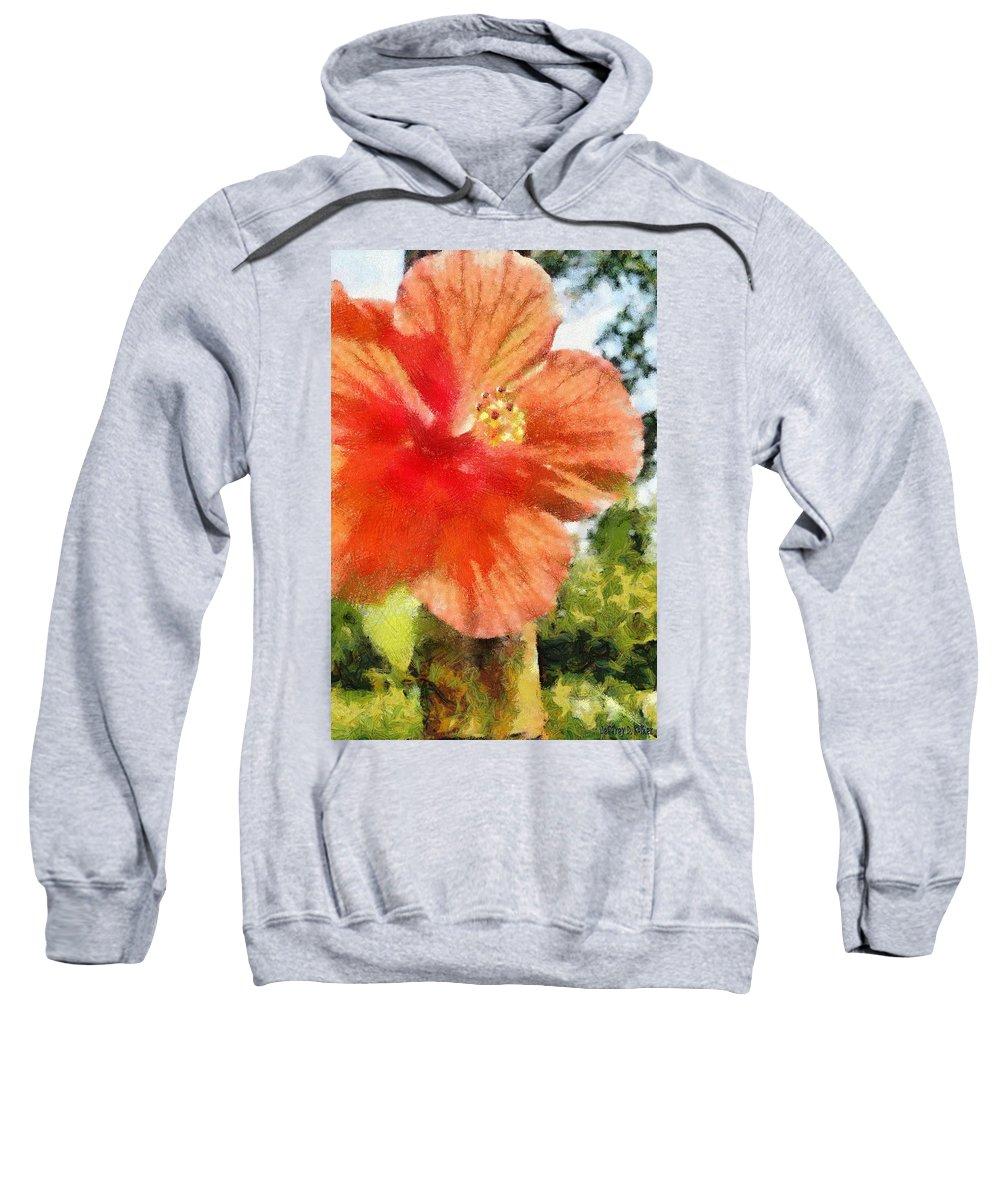 Zoo Sweatshirt featuring the painting Zoo Flower by Jeffrey Kolker