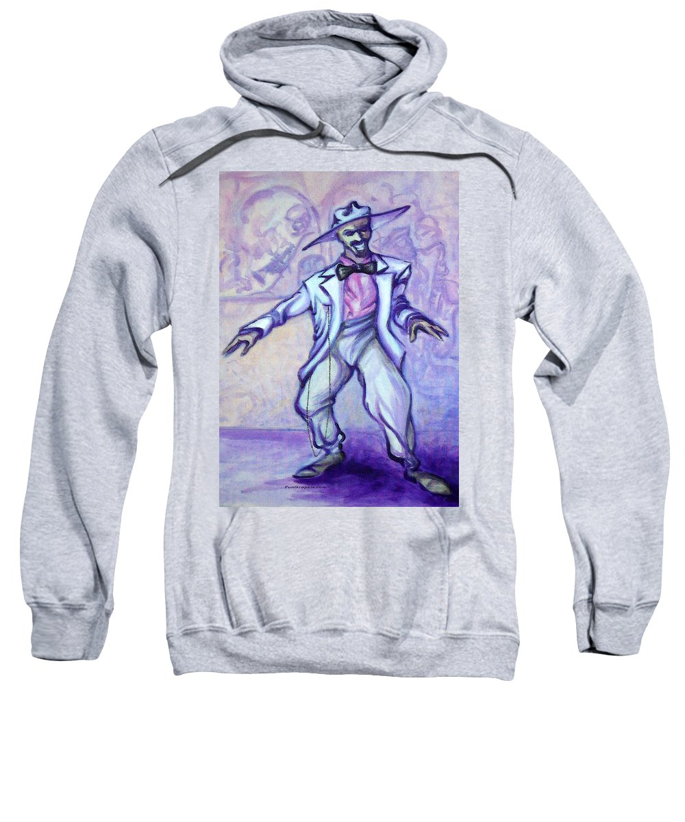 Zoot Suit Sweatshirt featuring the painting Zoot Suit by Kevin Middleton