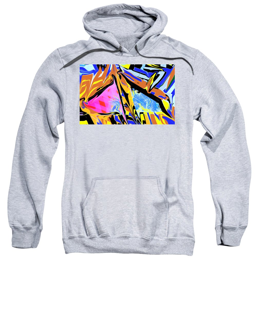 Abstract Sweatshirt featuring the digital art Zulu by Ian MacDonald