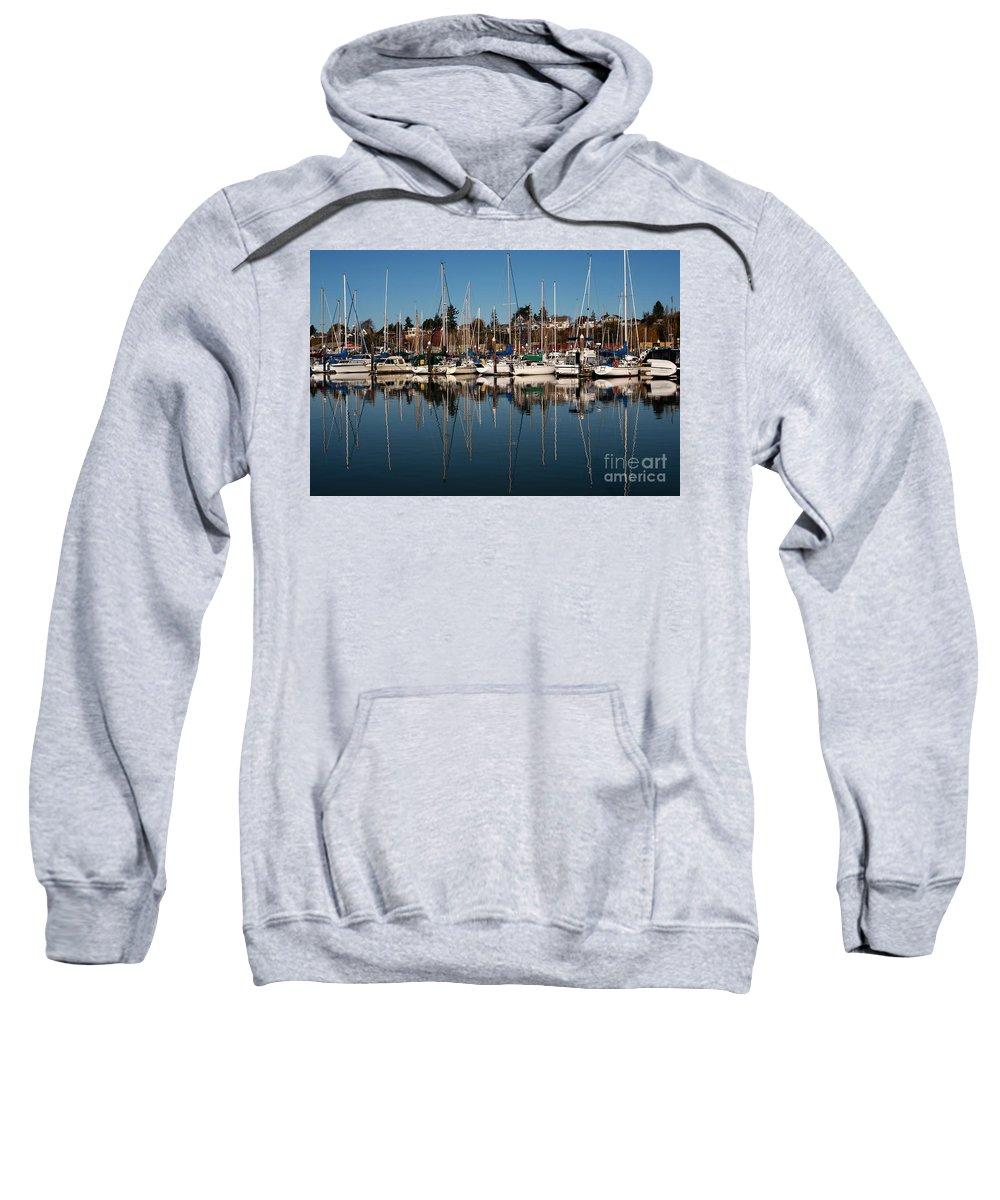 Bellingham Sweatshirt featuring the photograph Bellingham Bay Marina by Jim Corwin