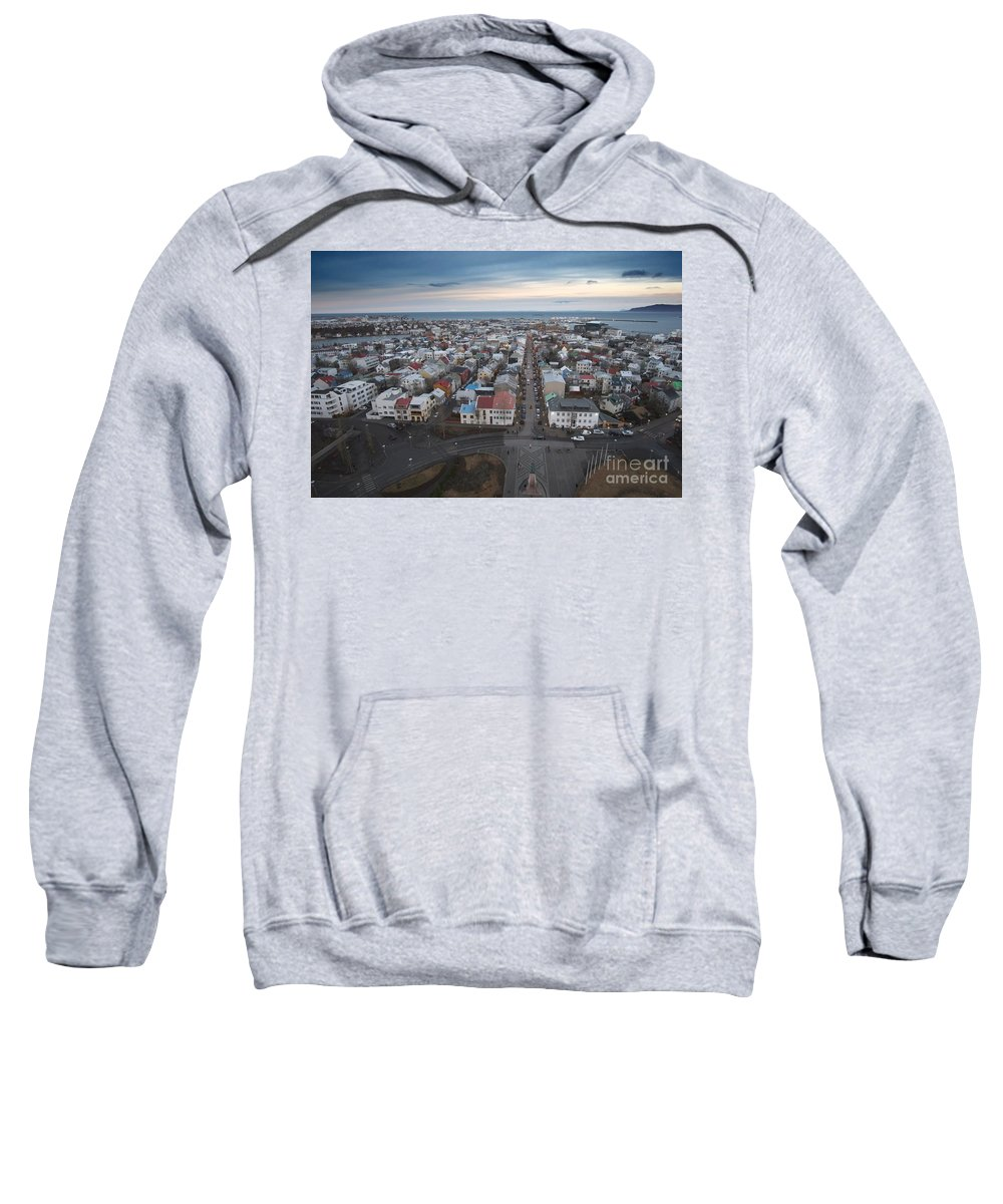 Hallgrimskirkja Sweatshirt featuring the photograph Hallgrimskirkja by Floyd Menezes
