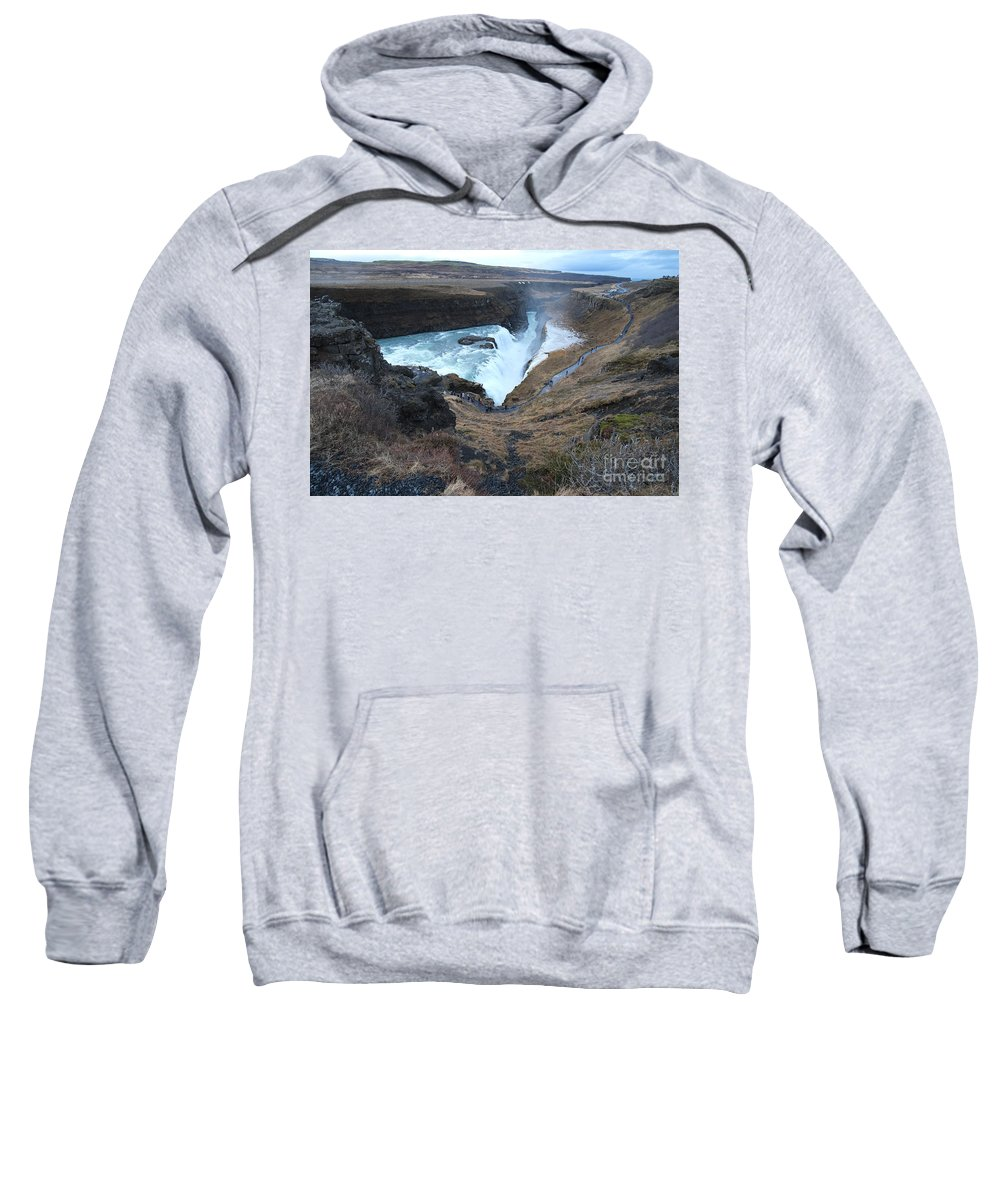Iceland Sweatshirt featuring the photograph Gullfoss by Floyd Menezes