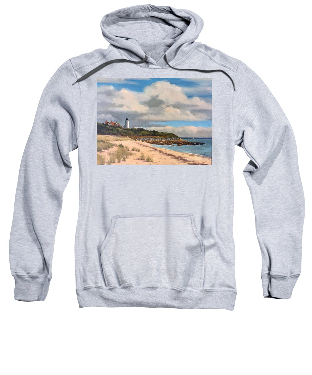 Cape Cod Sweatshirt featuring the painting Nobska Lighthouse by Dianne Panarelli Miller