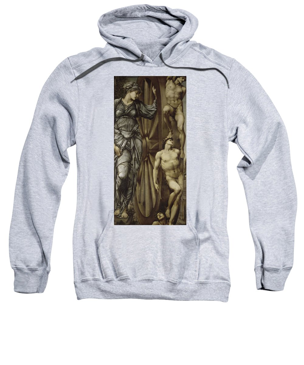 British Sweatshirt featuring the painting The Wheel Of Fortune by Edward Burne-Jones