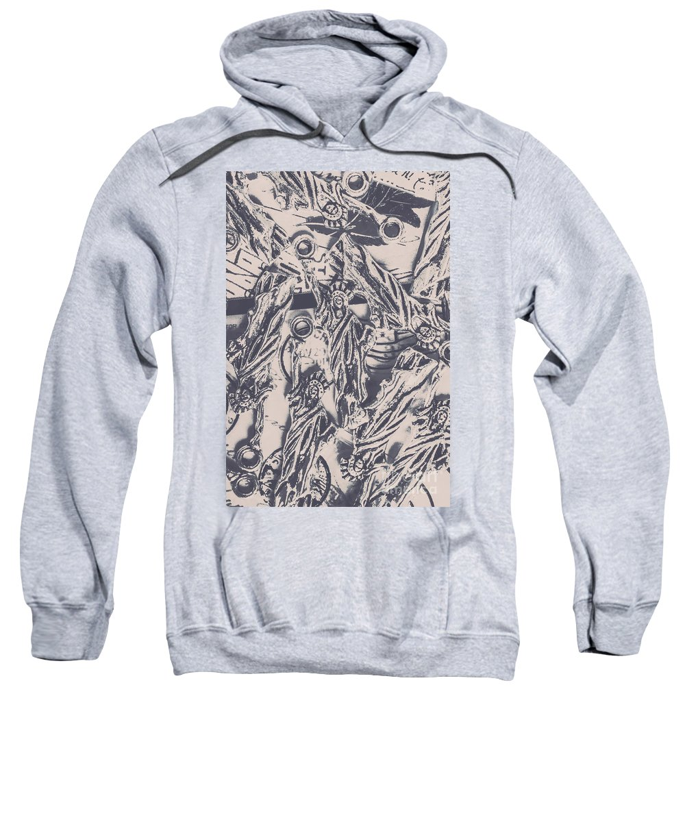Usa Sweatshirt featuring the photograph A Souvenir Of Statues by Jorgo Photography - Wall Art Gallery