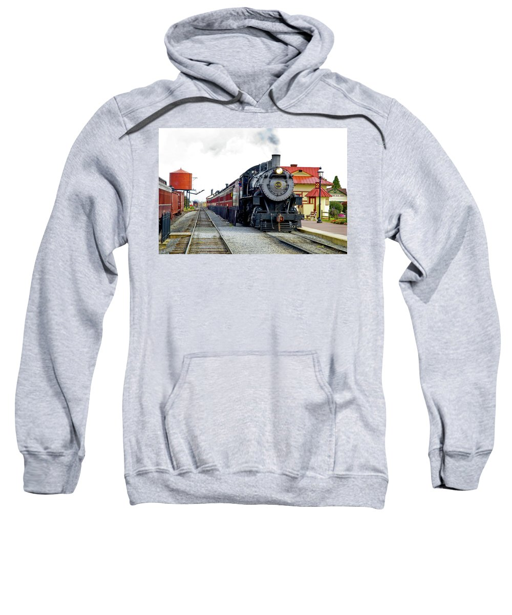 Strasburg Railroad Sweatshirt featuring the photograph All Aboard by Paul W Faust - Impressions of Light