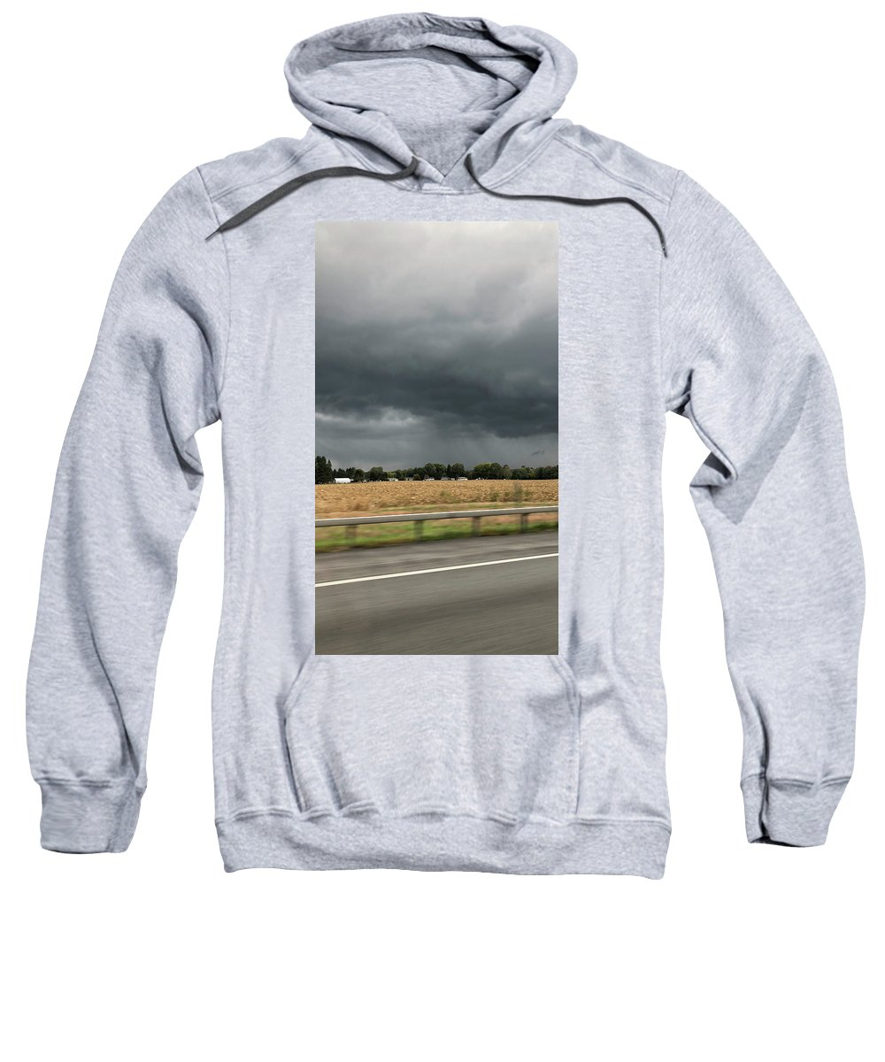 Sweatshirt featuring the photograph Angry Black Sky by Freddy Alsante