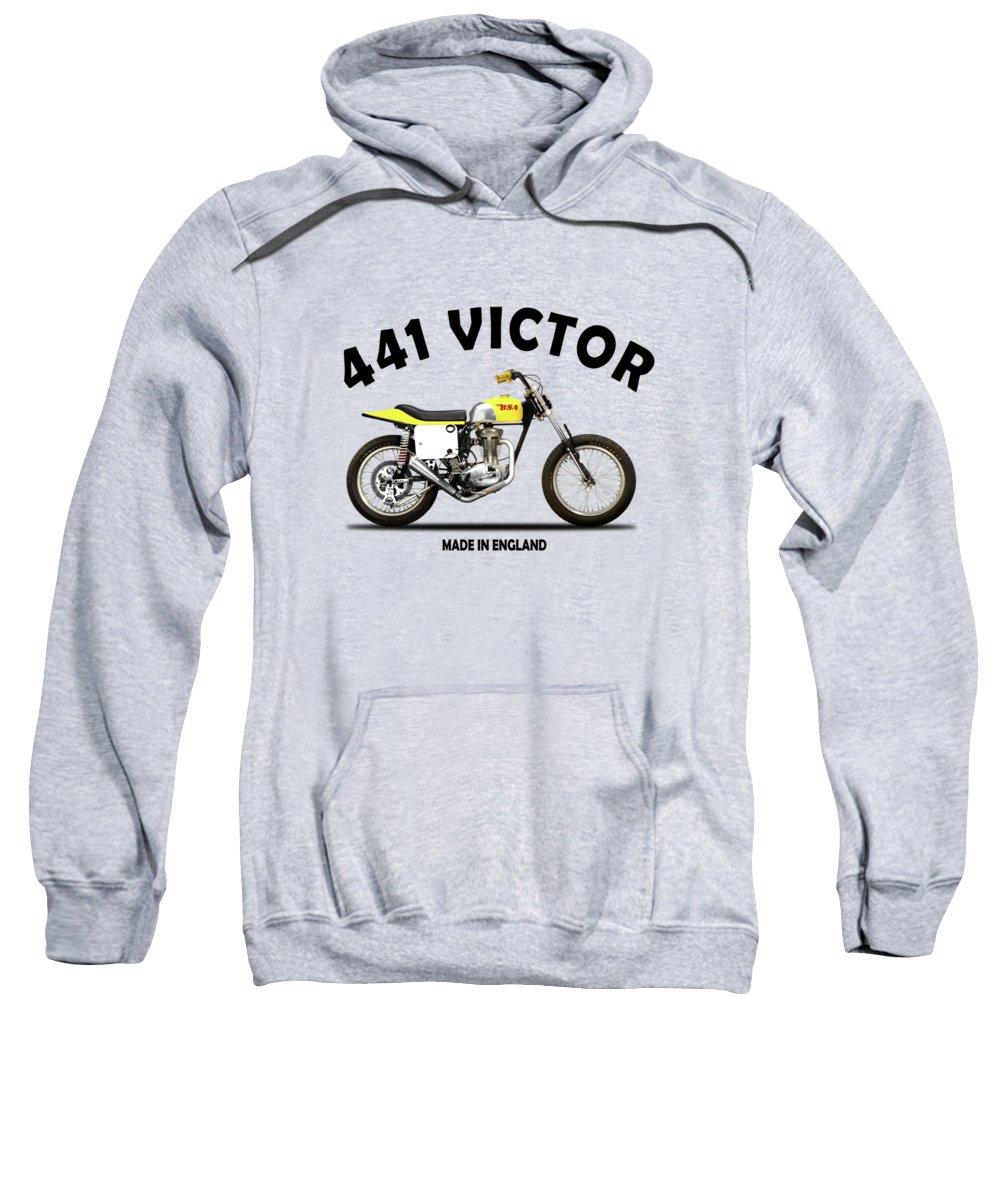 Bsa B44 Sweatshirt featuring the photograph The Bsa 441 Victor by Mark Rogan