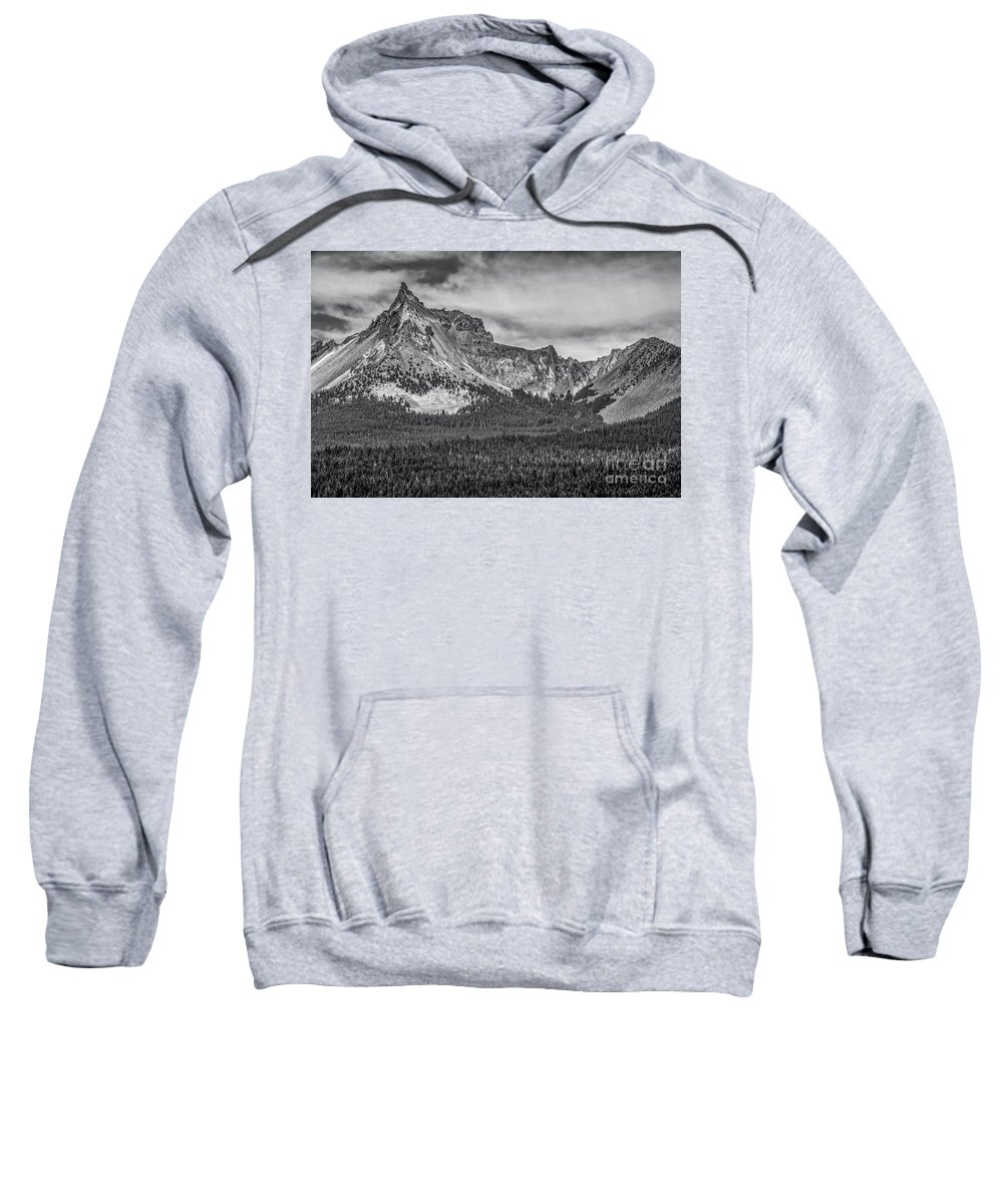Adventure Sweatshirt featuring the photograph Big Cowhorn by Charles Dobbs