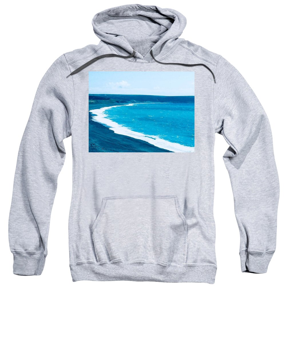 Sweatshirt featuring the photograph Blues by V and MJ S