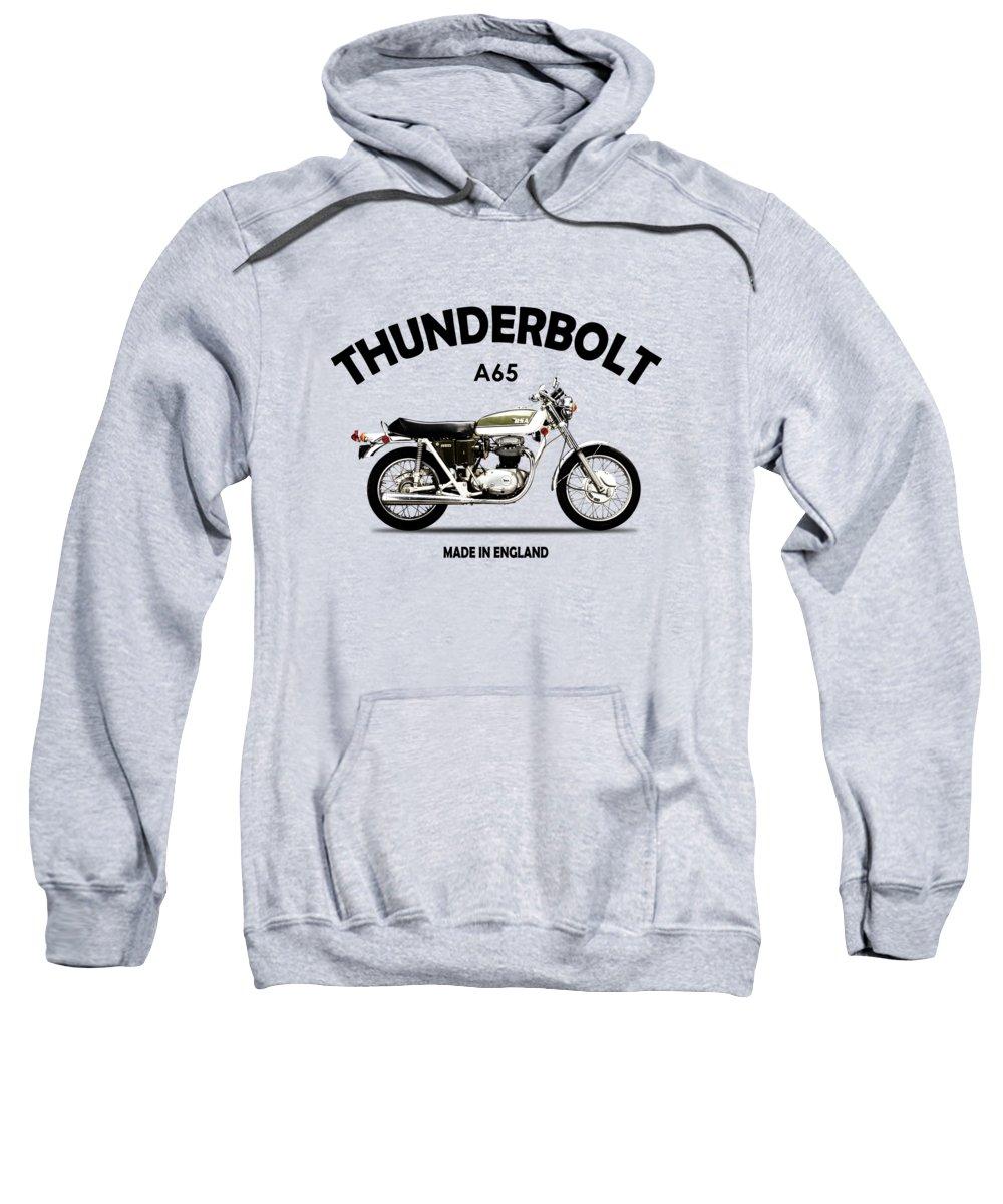 Bsa A65 Sweatshirt featuring the photograph Bsa A65 Thunderbolt 1971 by Mark Rogan
