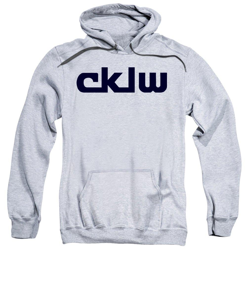 Cklw Sweatshirt featuring the digital art Cklw Mid-70's Logo by Big8Radio