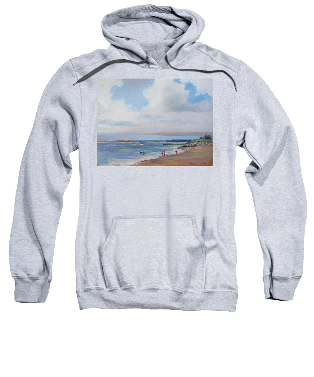 Eastham Sweatshirt featuring the painting Cooks Beach by Dianne Panarelli Miller