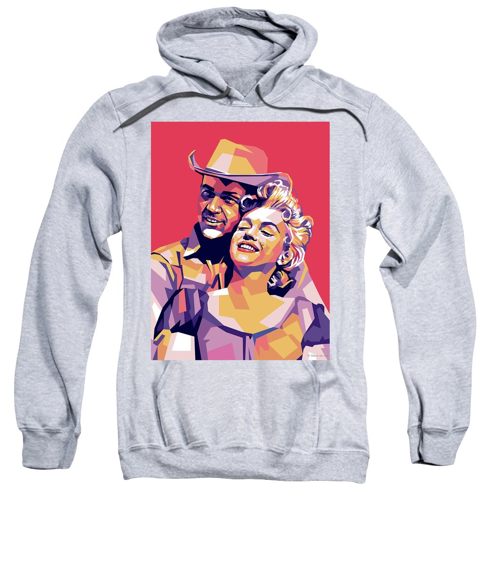 Don Sweatshirt featuring the digital art Don Murray and Marilyn Monroe by Stars on Art