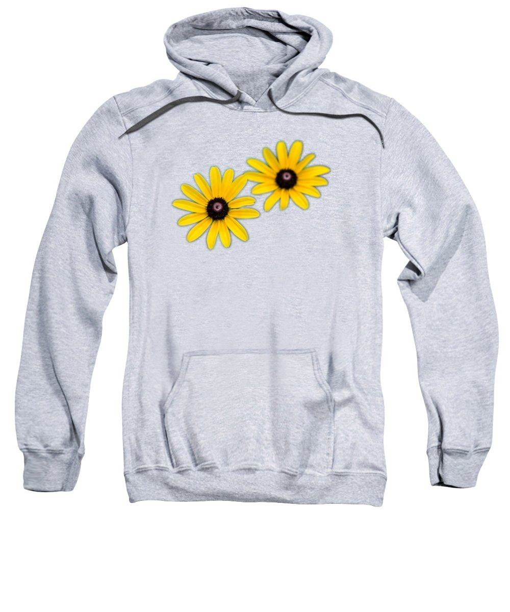Daisies Sweatshirt featuring the photograph Double Daisies by Christina Rollo