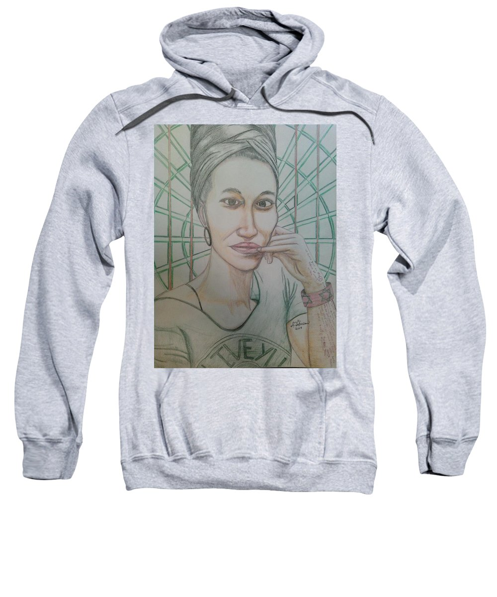 Drawing On Paper Sweatshirt featuring the drawing Emst by Andrew Johnson